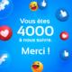 400 abonnés facebook