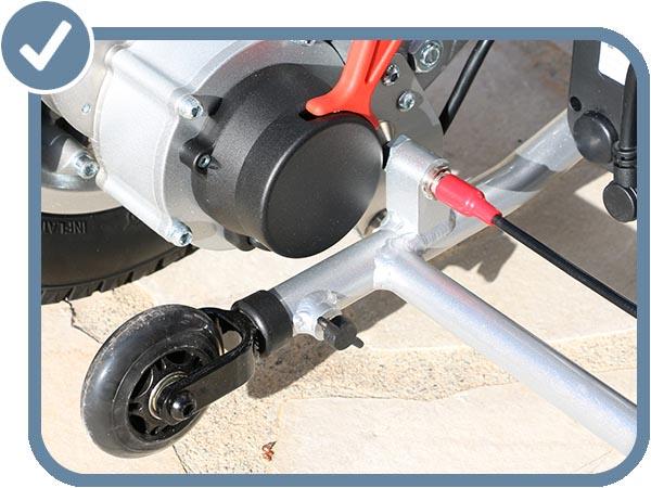 Détail roue anti-bascule