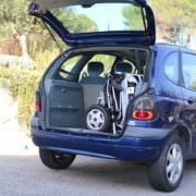 Eloflex D2 dans le coffre d'une voiture