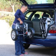 Eloflex D2 divisé dans le coffre d'une voiture