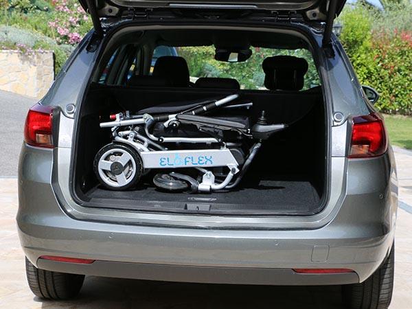 Eloflex dans le coffre d'une voiture