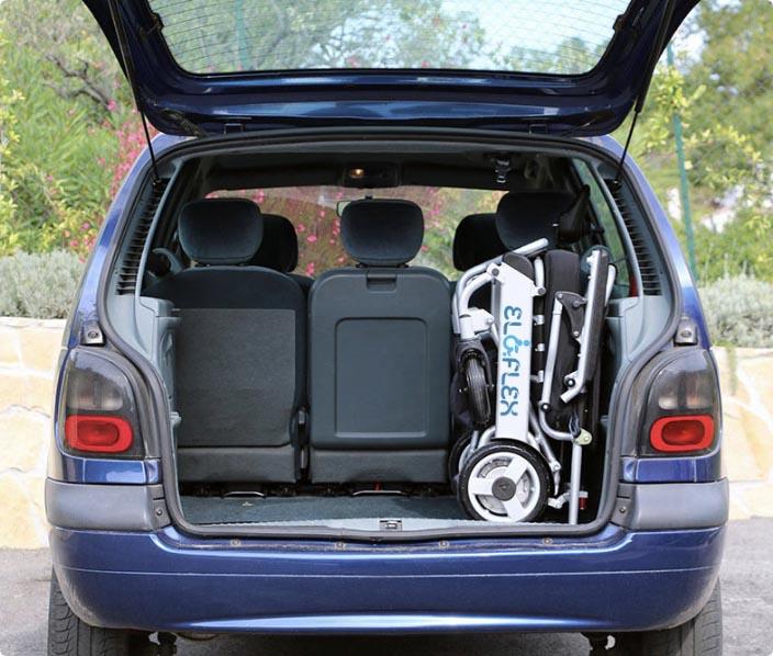 Eloflex dans le coffre de votre propre véhicule