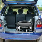 Eloflex dans un coffre de voiture