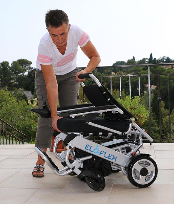 Eloflex fauteuil roulant pliable d'origine suédoise