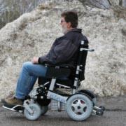 Eloflex modèle H grandes roues pneumatiques