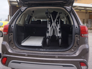 Eloflex rampe modèle X dans un coffre