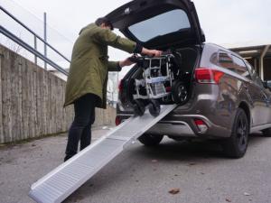 Eloflex rampe sortir modèle X du coffre