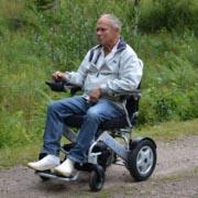fauteuil roulant électrique pliable Eloflex campagne
