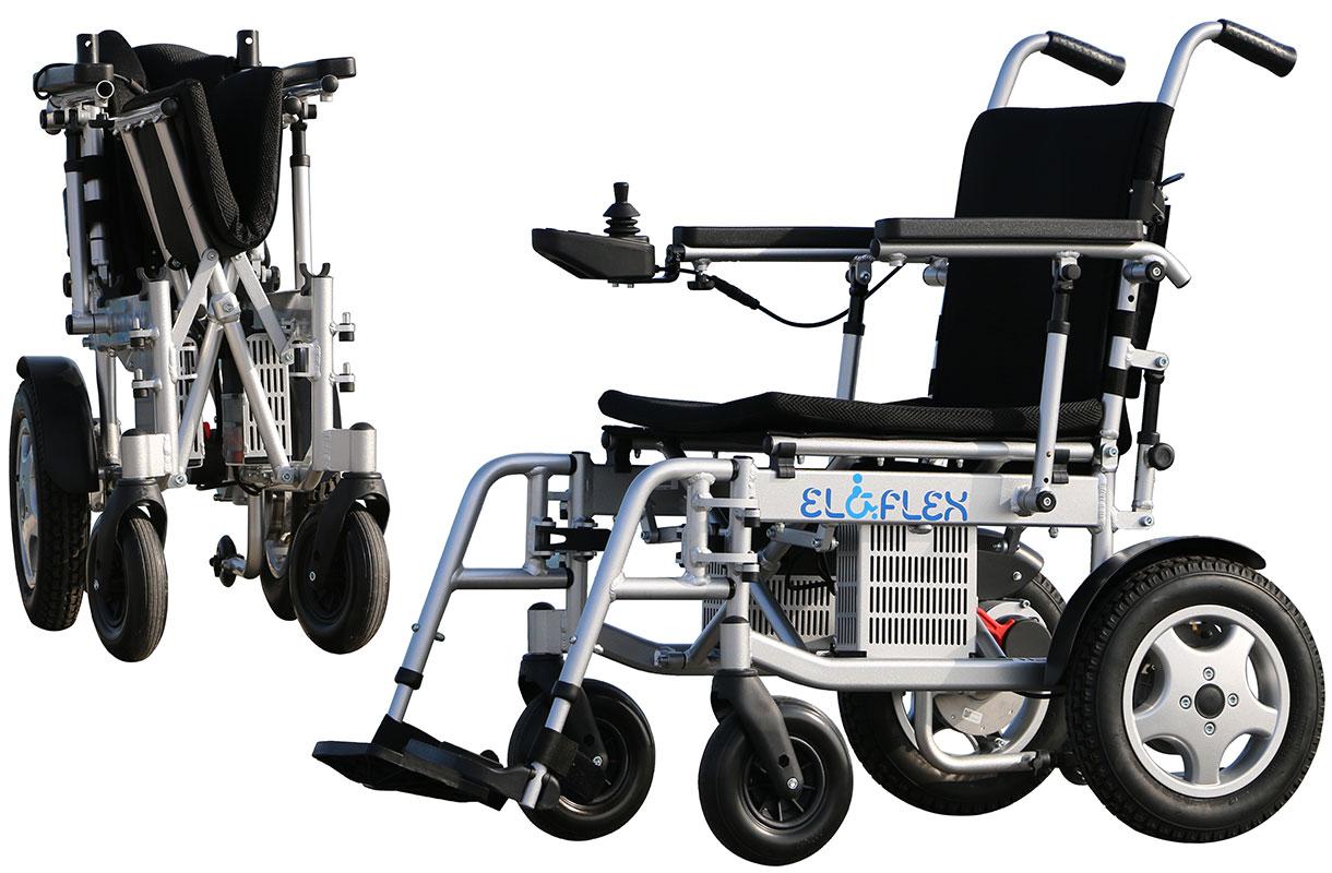 fauteuil roulant électrique pliable Eloflex compact modèle X