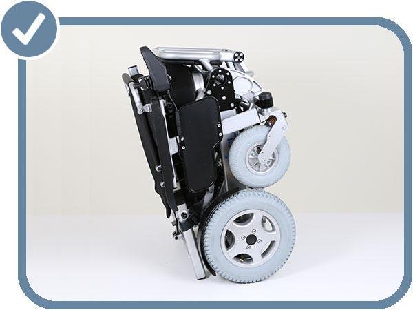 fauteuil roulant électrique pliable Eloflex modèle H plié