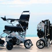 fauteuil roulant électrique pliable Eloflex modèle L le plus compact