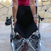 fauteuil roulant électrique pliable Eloflex modèle X pliage