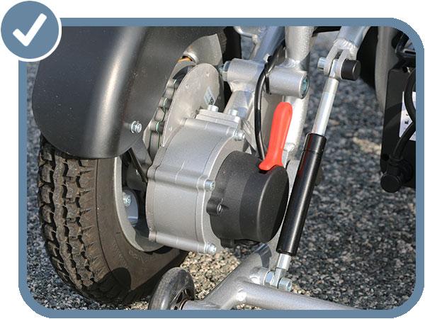 fauteuil roulant électrique pliable Eloflex moteur