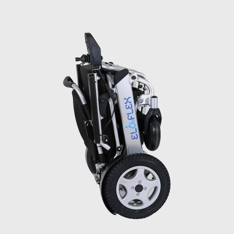 fauteuil roulant électrique pliable Eloflex plié