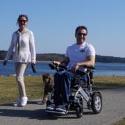 fauteuil roulant électrique pliable Eloflex pour plus de liberté