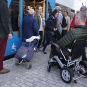 fauteuil roulant électrique pliable Eloflex transports en commun