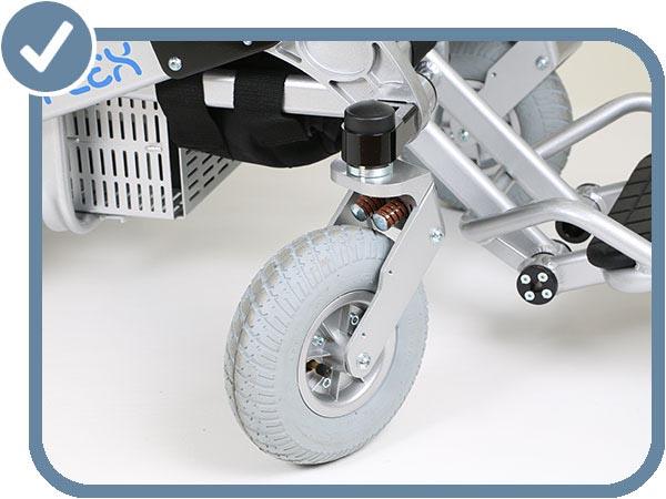 Modèle H roue avant et suspension